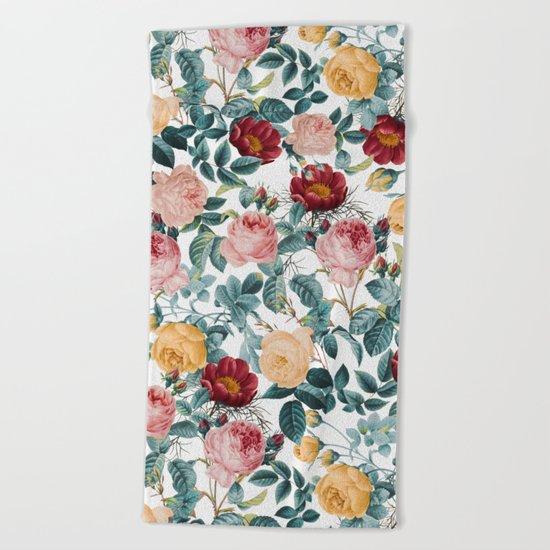 Vintage garden VI Beach Towel