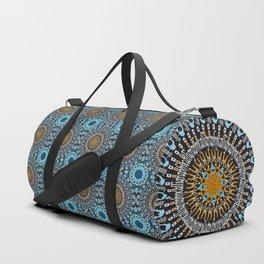 Calligraphic Boho (Blue) Duffle Bag