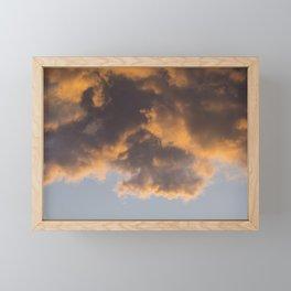 Fiery Clouds in Sunset Sky Framed Mini Art Print