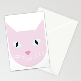 pink mow Stationery Cards