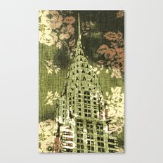The Chrysler Building in Green Canvas Print