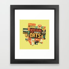 Who Run The World Cats Framed Art Print