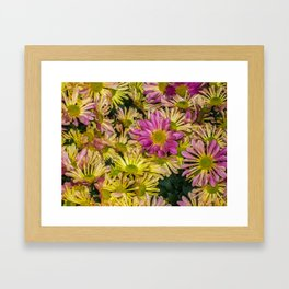 Messed Up Flowers Framed Art Print