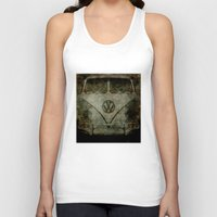 vw bus Tank Tops featuring VW Zombiemobile - A killer Zombie bus by Bruce Stanfield