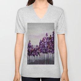 Purple Trees Unisex V-Neck