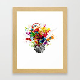 Explosion of colors Framed Art Print