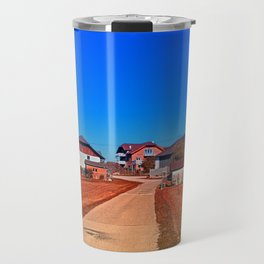 Peaceful countryside village scenery | landscape photography Travel Mug