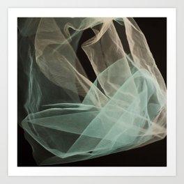 Abstract veil background Art Print