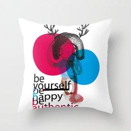 ciervo love Throw Pillow