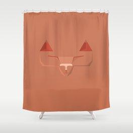 Geo Cat Shower Curtain
