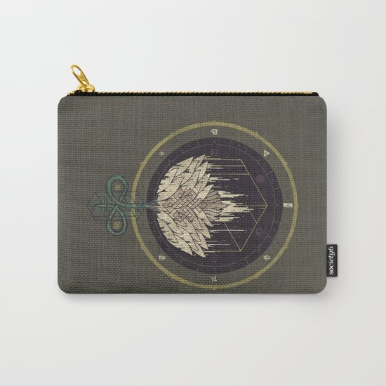 Fading Dahlia Carry-All Pouch