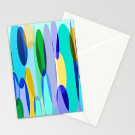 Elliptical abstract Stationery Cards