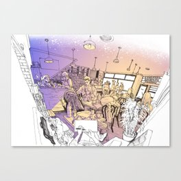 Pepper cafe Canvas Print