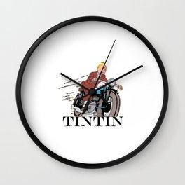 Tintin racing Wall Clock