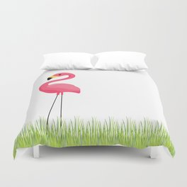 Cuban Pink Flamingo Duvet Cover