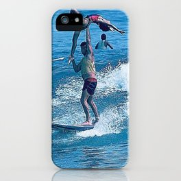 Mary & John Surfing #2 iPhone Case