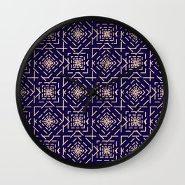 Rotate squares Wall Clock