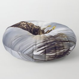 Bald Eagle swooping Floor Pillow