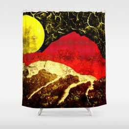 Storm on Red Mountain Shower Curtain
