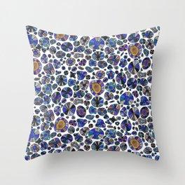Barca Dots Pattern blue/purple Throw Pillow