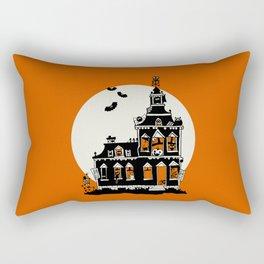 Vintage Style Haunted House - Happy Halloween Rectangular Pillow