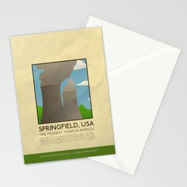 Silver Screen Tourism: SPRINGFIELD, USA / THE SIMPSONS Stationery Cards