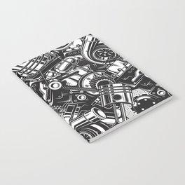 Automobile car parts pattern Notebook