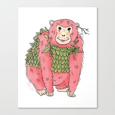 Peachtree The Chimp in Red Canvas Print
