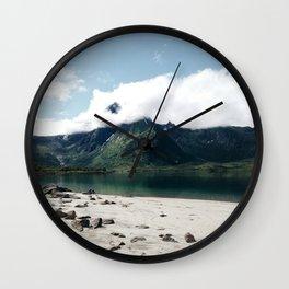 Lofoten coast Wall Clock