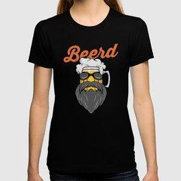 Beer And Beard Wordplay - Hipster Beer Mug T-shirt
