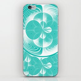 Light turquoise abstract iPhone Skin