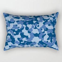 Blue Camouflage Rectangular Pillow