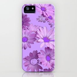 Pinkish Lilac Color Purple Daisy Flowers Garden iPhone Case