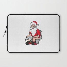 Santa in toilet Laptop Sleeve