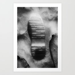 A Small Step For A Man Art Print