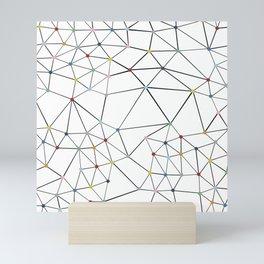 Segment Color Spot White Mini Art Print