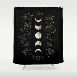 Moonlight Garden - Olive Green Shower Curtain