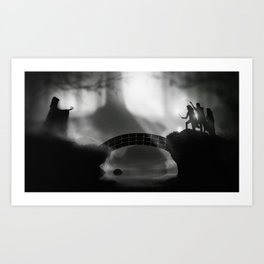"""""""But Death was cunning"""" Deathly Hallows Art Print"""