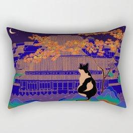 Blue Forbidden City Rectangular Pillow