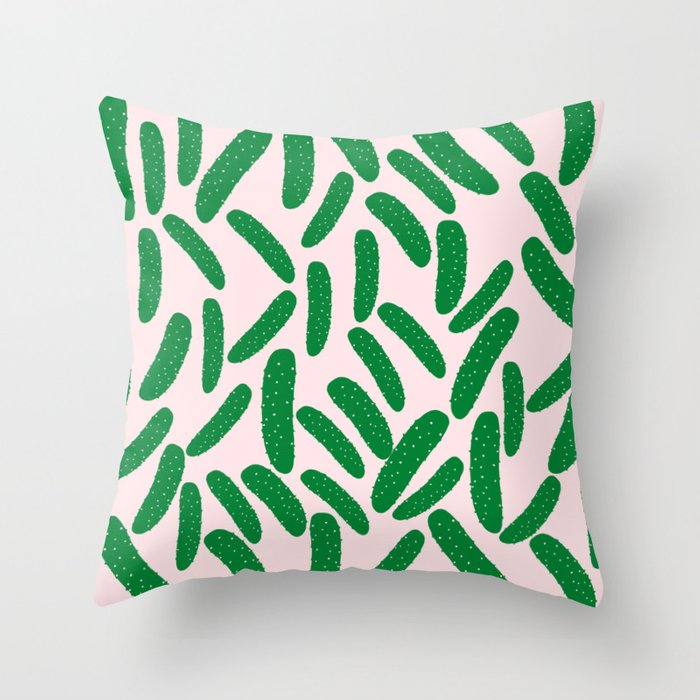 Cute Pickles Throw Pillow
