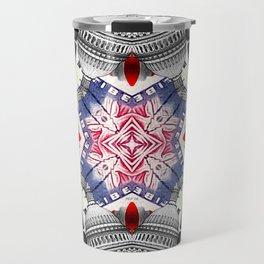 Abstract Americana Collage Travel Mug