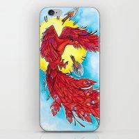 phoenix iPhone & iPod Skins featuring Phoenix by missfortunetattoo
