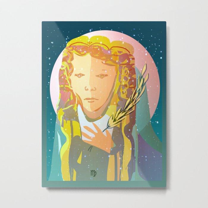 Virgo The Virgin / Zodiac Metal Print