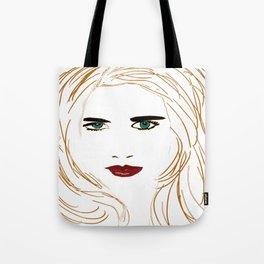 Digital face Tote Bag
