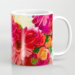 White Center Flowers Coffee Mug