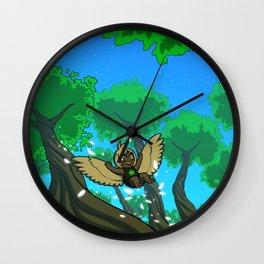 Harp's Afternoon Flight Wall Clock
