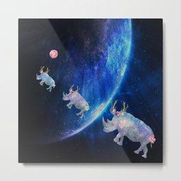 Rhinos Journey Reaching For The Stars Metal Print