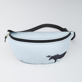 The moose - minimalist landscape Fanny Pack