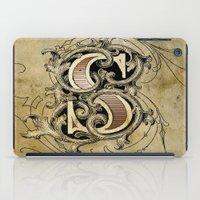 monogram iPad Cases featuring monogram s by Art Lahr