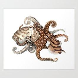 Octokisses Art Print